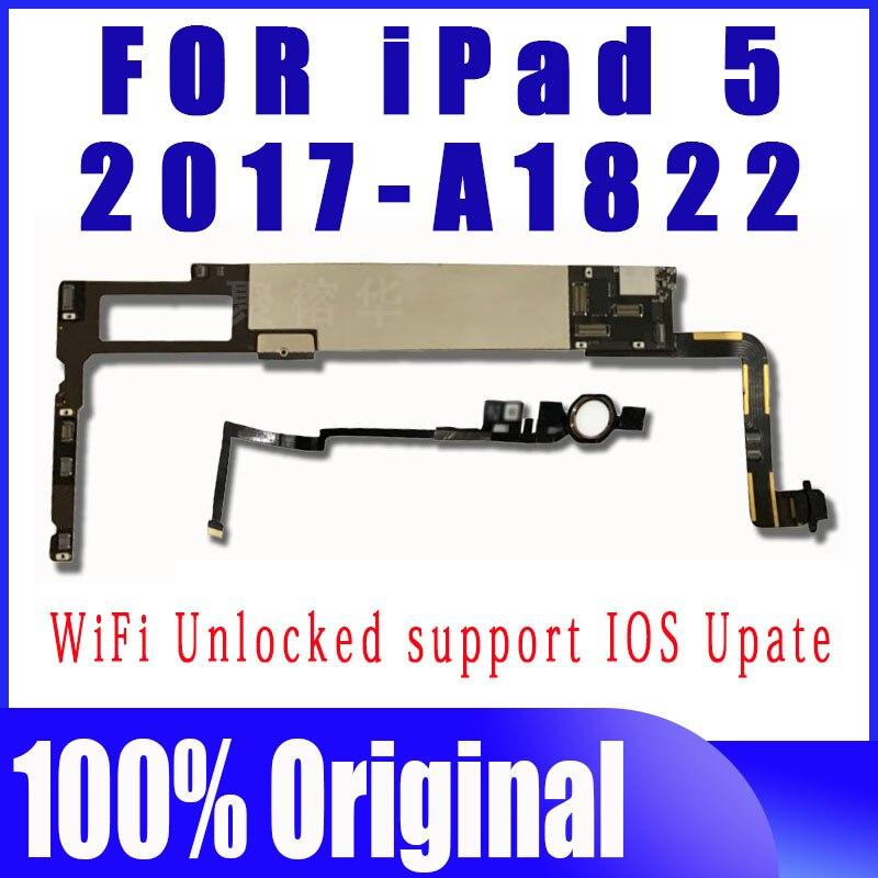 32/64/128/256GB 2017 9.7 بوصة لباد 5 اللوحة المنطق مجلس الأصلي A1822 نظيفة iCloud لباد 5th اللوحة الرئيسية