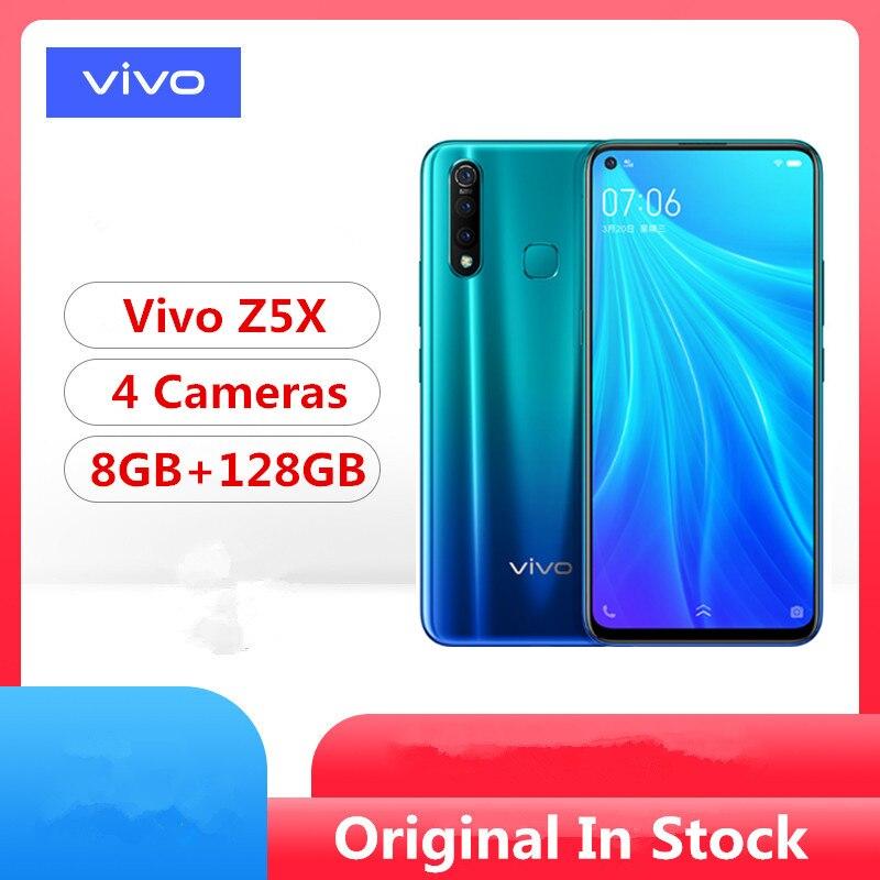 "Stock Newmodel Vivo Z5X teléfono inteligente Snapdragon 710 Android 9,0 de 6,53 ""2340X1080 8GB RAM 128GB ROM 4 cámaras huella identificación facial"