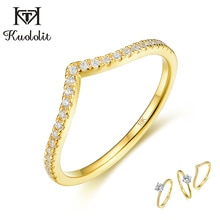 Kuololit 10k sólido ouro 100% natural moissanite anéis de pedra preciosa para as mulheres cor separada banda conjunto anel para aniversário casamento