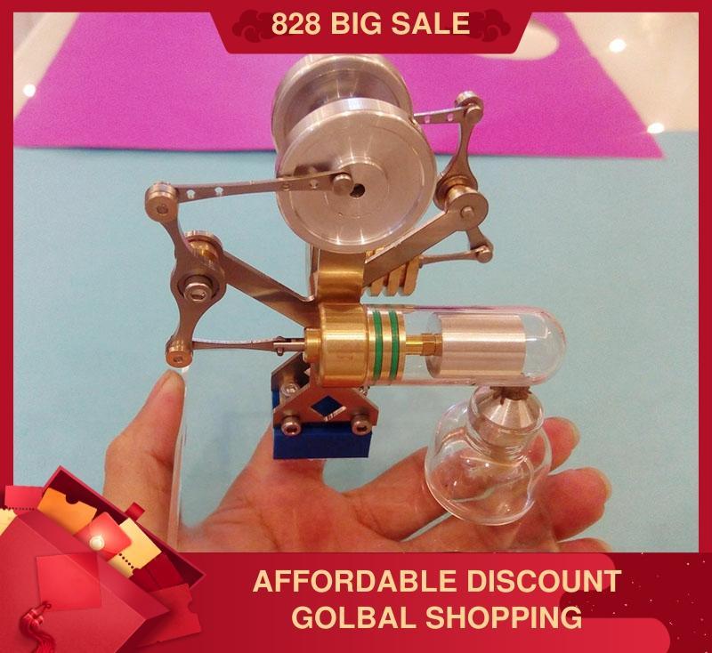 DIY equilibrio en miniatura motor de vapor Stirling motor cumpleaños regalo ciencia experimento creativo
