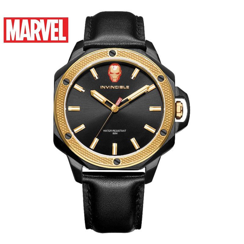 Disney 2021 New Men's Quartz Watch Marvel Watch Men's Casual Trend Sports Luminous Iron Man