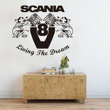 Vinyle Art chambre décoration Scania vivre le rêve V8 Svempra Griffin camion HGV LKW stickers muraux beauté LY1856