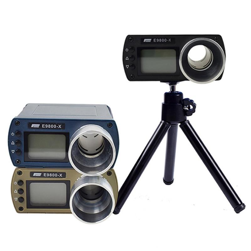 E9800-X Shooting Chronograph Airsoft Tactical Air Gun BB Bullet Speed Tester High-Power Hunting LCD Screen Measure Tool