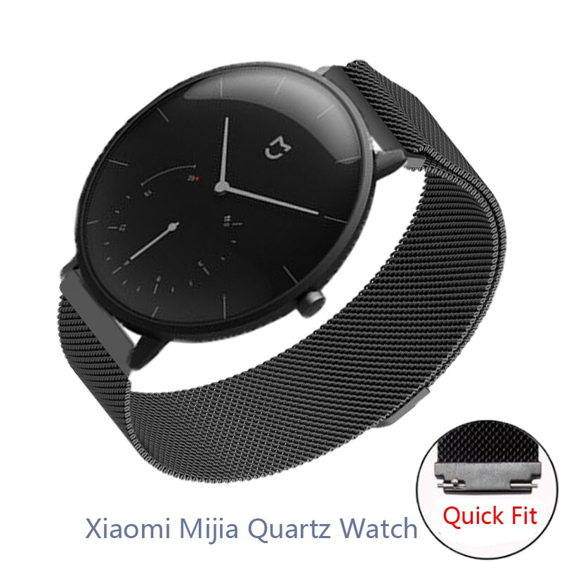 20mm Wristband For Xiaomi Mijia Quartz Watch Strap Strong Magnetic Replace Band Milanese Stainless S