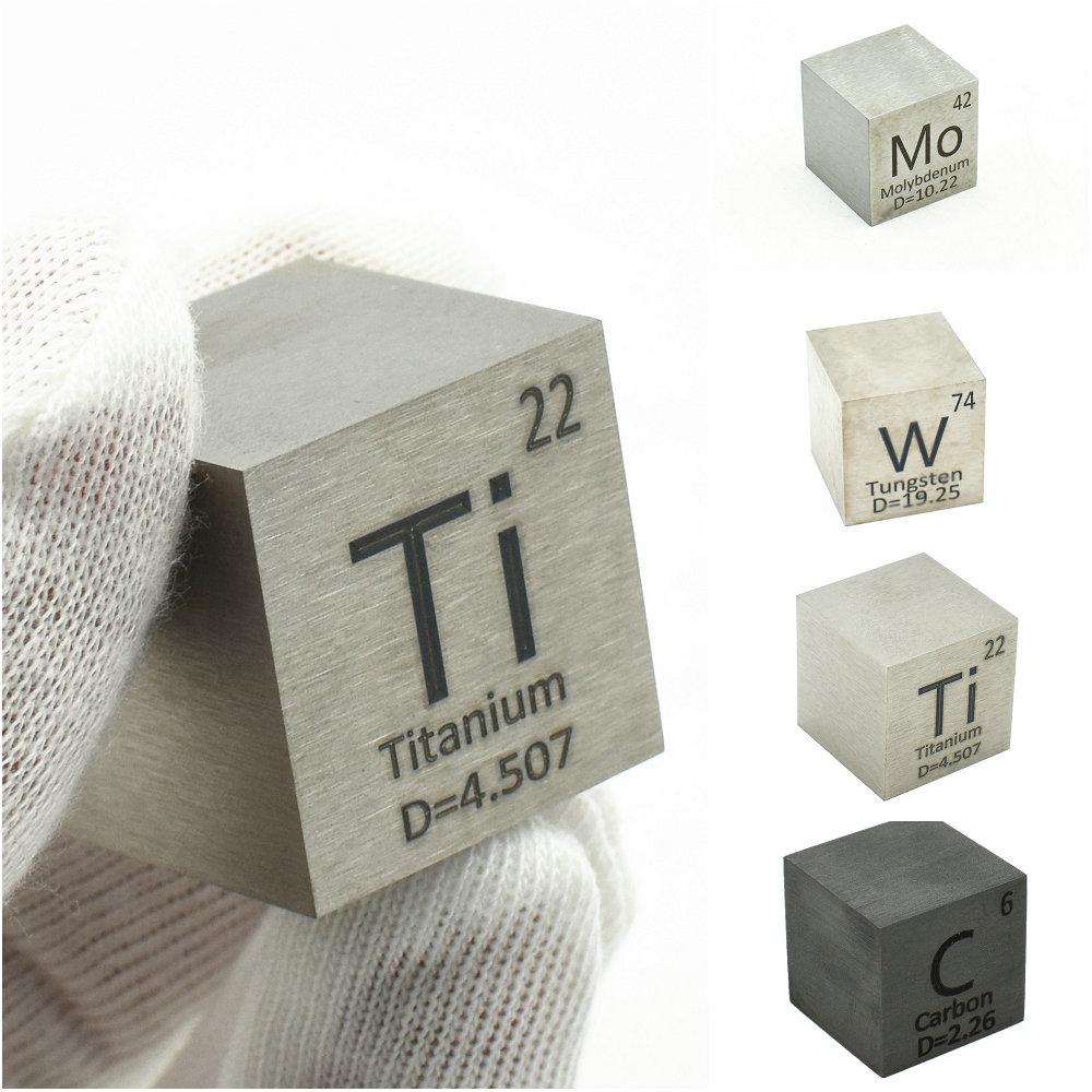 1 بوصة عنصر مكعب 25.4 مللي متر مكعبات كثافة المعادن لجمع الجدول الدوري النحاس بي القصدير التيتانيوم التنغستن مو C ني