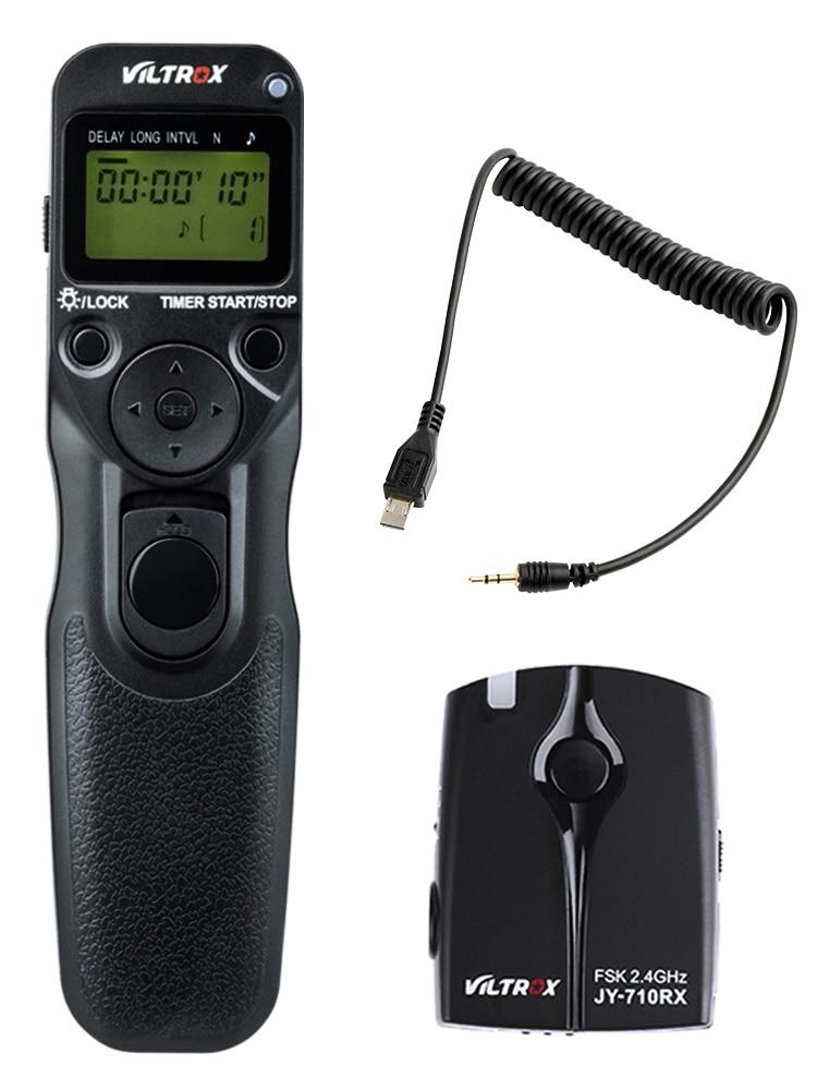 Viltrox JY-710-S2 Camera Wireless Timer Shutter Release Remote for Sony A9 A7II A7SII a7II A7RIII A6500 A6300 HX60 HX50 RX100M6