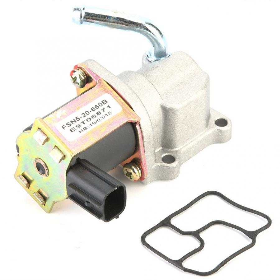 Válvula de Control de aire en reposo para FSN5-20-660B con estilo para coche compatible con MAZDA PROTEGE/626 accesorios para coche Válvula de Control de ralentí de aluminio