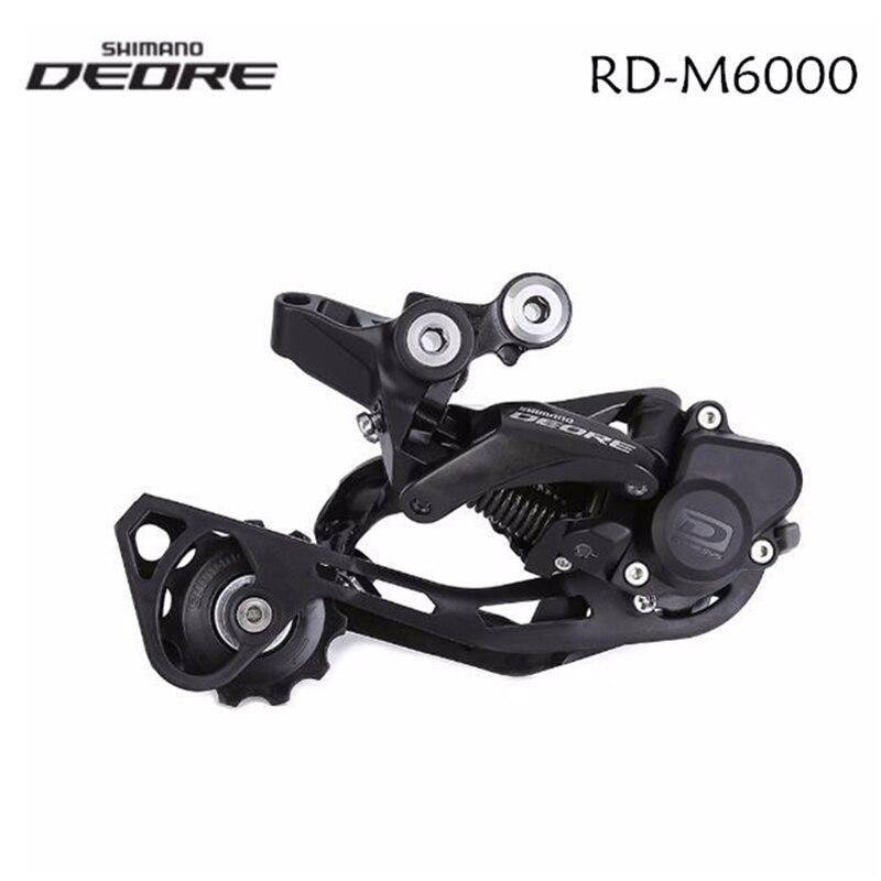 Shimano Deore RD-M6000 M4120 Shadow + 10/11 velocidades bicicleta de montaña desviador de cambios trasero MTB Bike GS SGS jaula larga con bloqueo