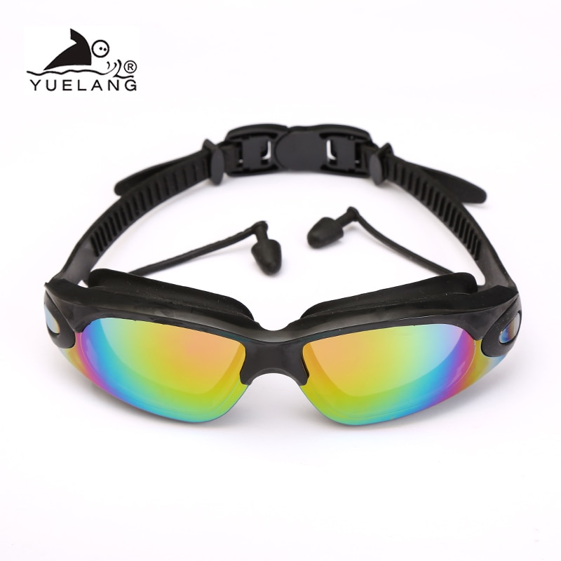 Waterproof Glasses Earplugs Professional Swimming Goggles Adult Silicone Swimming Caps Pool Anti-fog UV swimming goggles arena