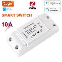 Interrupteur de lumiere intelligent sans fil  minuterie universelle 10A  Tuya ZigBee3 0  fonctionne avec Alexa et Google Home