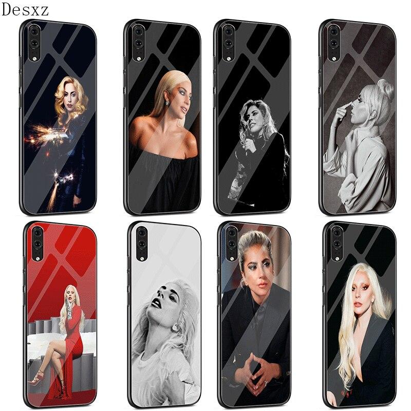 Caja de cristal para Huawei P30 P20 P10 Y9 Y6 amigo 20 Pro Lite P Smart Honor 7A 8X 9 10 cubierta Lady Gaga