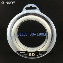 Ligne de pêche en Nylon de marque SUNKO 30 ~ 180LB ligne de pêche Monofilament Super solide leurre pêche en mer de roche