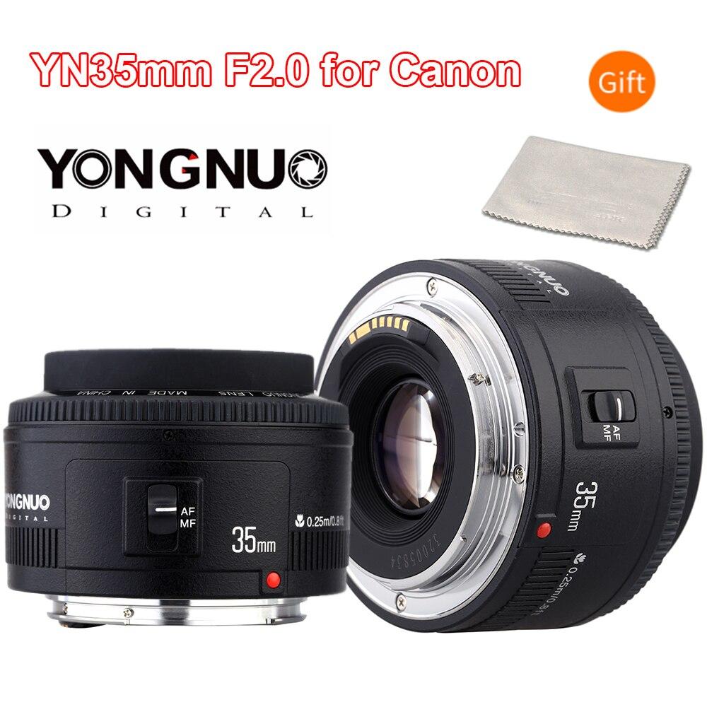 YONGNUO 35 مللي متر عدسة YN35mm F2.0 عدسة واسعة زاوية ثابتة/رئيس السيارات التركيز عدسة لكانون 600d 60d 5DII 5D 500D 400D 650D 600D 450D