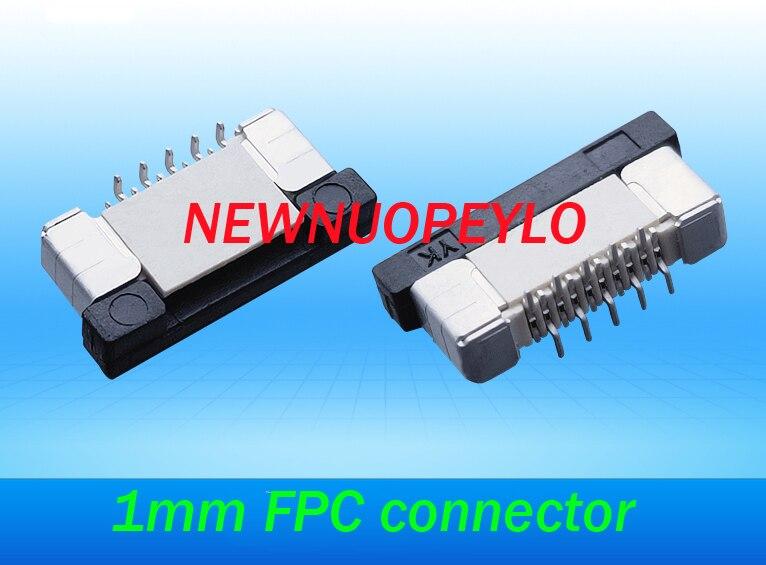 100 قطعة FPC موصل FFC FPC المقبس 1 مللي متر 15 دبوس 15 P العمودي نوع الشريط شقة موصل