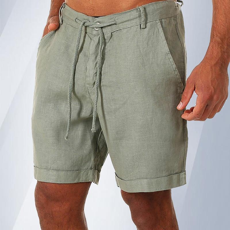 Универсальные мужские повседневные шорты, однотонные шорты, новинка, мужские льняные шорты, мужские шорты, модные шорты, лето 2021