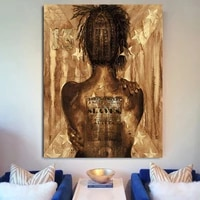 canvas posters figure a womans golden back wall art picture modern home decor poster and prints picture for living room