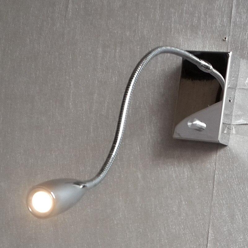Ideas de iluminación Topoch para dormitorio perilla de lectura interruptor On/Off/Dimmer tubo Flexible 360mm carcasa de aluminio 3W CREE LED 100-240V