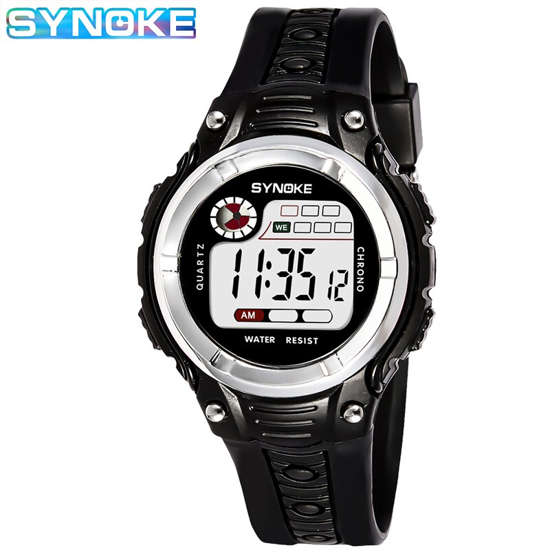 ohsen brand mens boys digital sports watches waterproof rubber band wristwatch led colorful backlight red army kids watch gift SYNOKE Kid Watches Children Sports Watch Waterproof Boys Girls LED Digital Watches Silicone Rubber Kids Casual Watch Gift Montre