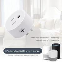 Minuterie de prise intelligente Wifi  prise US  commande vocale  fonctionne avec Amazon Echo Voice Control Google Home Assistant  1 piece