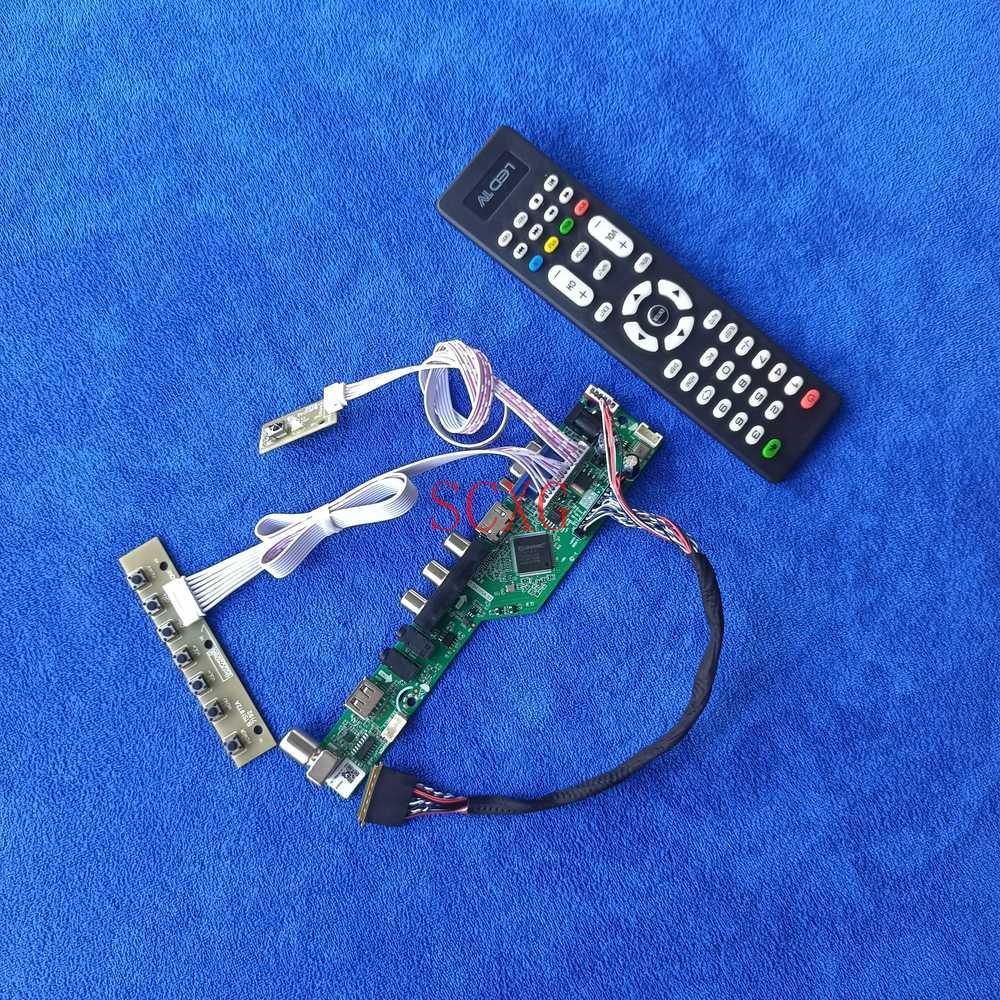 طقم لوحة تحكم بشاشة LVDS 40 سنًا تناظرية للإشارة متوافقة مع HDMI ومتوافق مع AV VGA طقم لوحة قيادة LCD LED مناسب HSD089IFW1/N089L6 1024*600