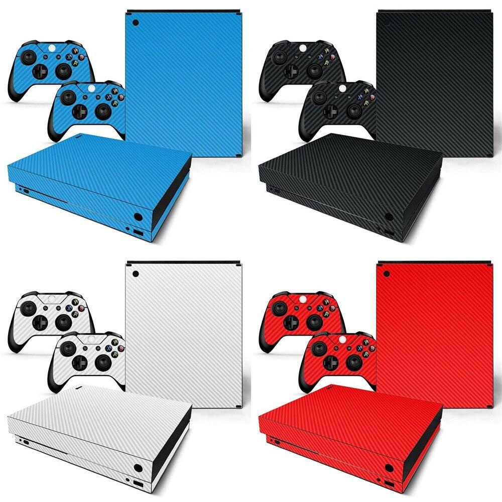 Fibra de Carbono Adesivo de Pele Decorativa para Xbox Console e Controladores Venda Quente Branco um x