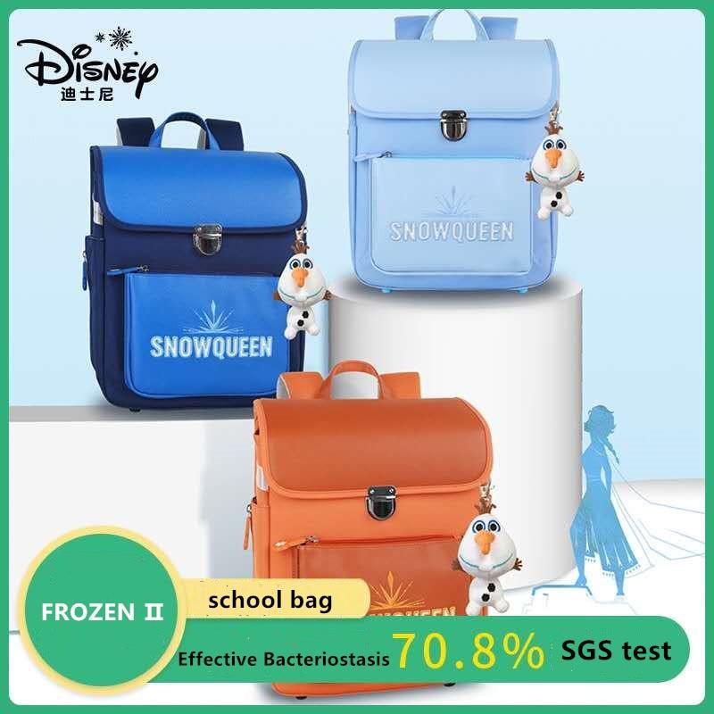 Disney Frozen School Bags For Girls Elsa Anna Primary Student Shoulder Orthopedic Backpack Large Capacity Grade 1-5 Kids Gifts