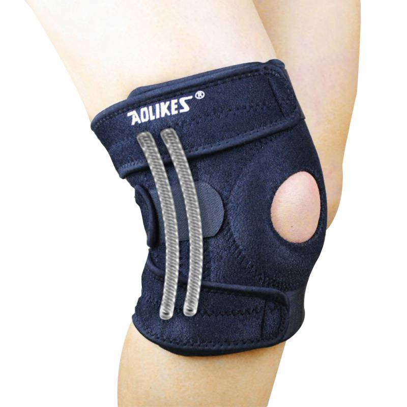 adjustable patella knee tendon strap protector guard support pad belted sports knee brace keenpads fitness training knee support 1PC Knee Adjustable Sports Leg Support Brace Wrap Protector Pads Sleeve Cap Patella Guard Spring Bars