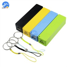 Черный/синий/зеленый/желтый USB мобильный Банк питания зарядное устройство Аккумулятор Чехол Diy коробка для 1x18650 литиевая батарея переносной