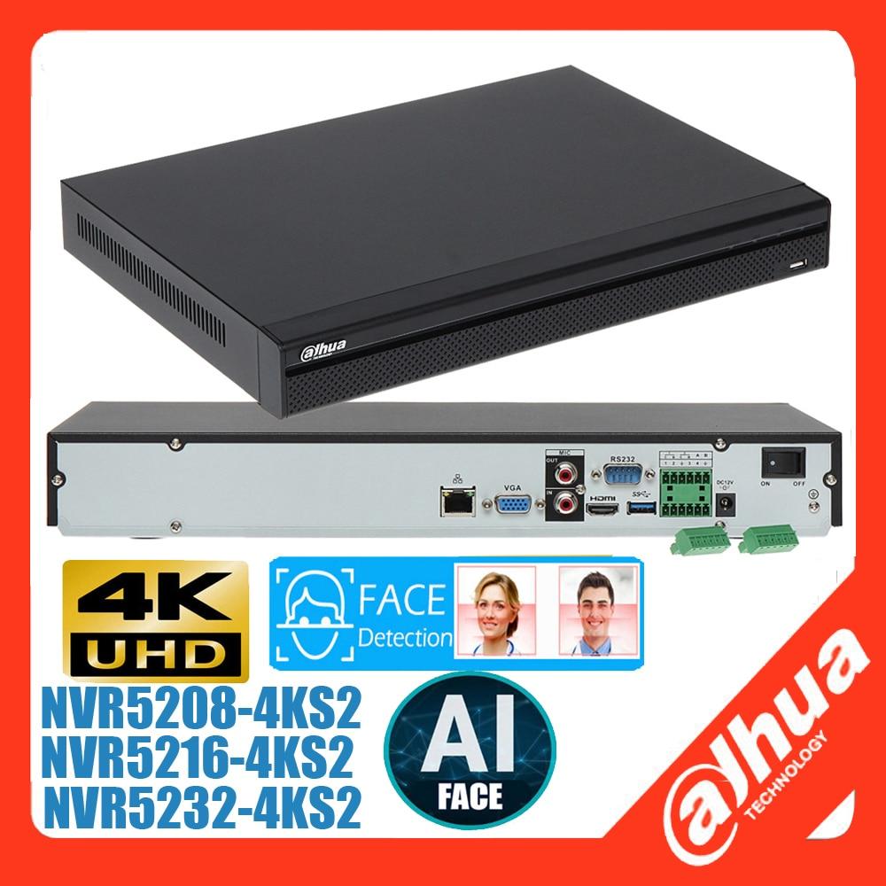 Mutil لغة داهوا بالنيابة الوجه NVR DH-NVR5208-4KS2 DH-NVR5216-4KS2 DH-NVR5232-4KS2 4K شبكة مسجل فيديو 12MP كاميرا دعم