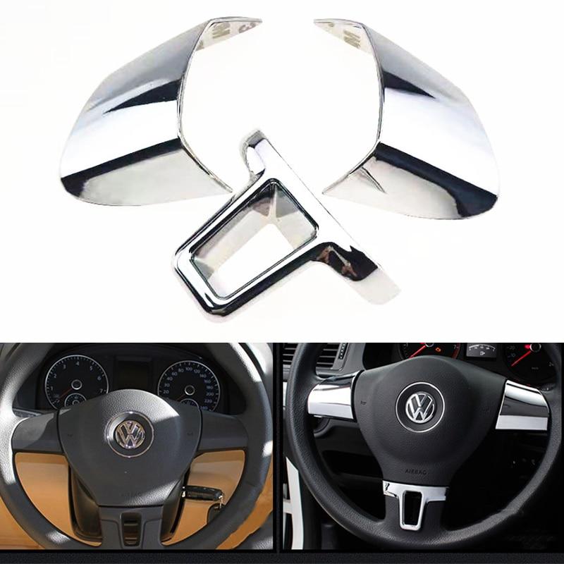 3 шт., украшение на руль, блестки, покрытие, наклейка для Volkswagen VW Golf 6 MK6 Polo Jetta MK5 2009 2010 2011 Polo