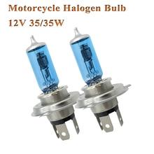 Eliteson 2PCS lampadine alogene per moto H4 35/35W fari fendinebbia motore 12V lampade alogene Super bianche