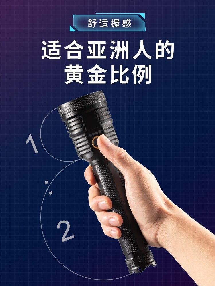 mais poderosa luz recarregavel lanterna garagem poderosa led tochas de alta potencia