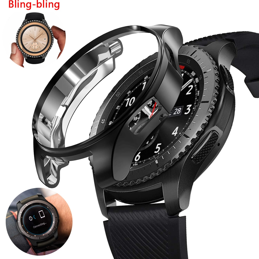 Funda protectora para Samsung Galaxy Watch, 46mm, 42mm/Gear S3 frontier, parachoques suave,...