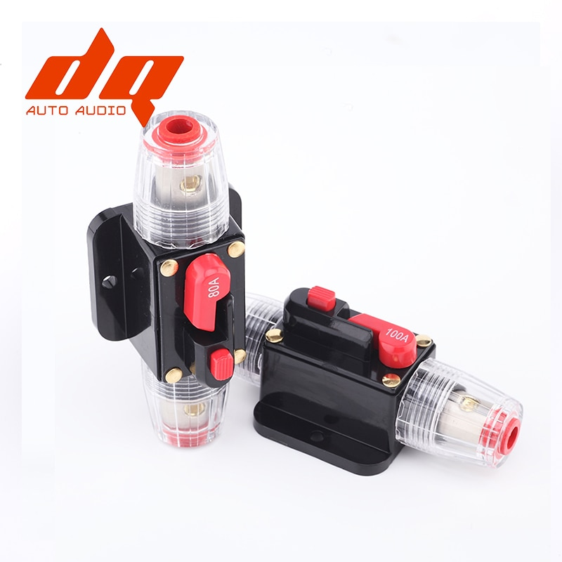 150A 12V Car Truck Audio Amplifier Circuit Breaker Fuse Holder AGU Style Stereo Amplifier Refit Fuse Adapter