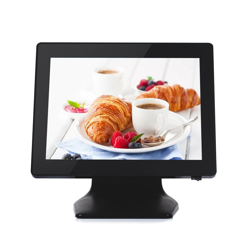 Pos Terminal 15 Inch Capacitive Touch Screen Cash Register Pos Machine All In One For Restaurant Retail Bar Pos System With VFD enlarge