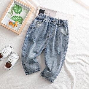 Baby Kids Jeans Fashion Korean Denim Trousers for Boys Toddler Girls Pants Children Spring Autumn Jeans 2020 Baby Denim Pants