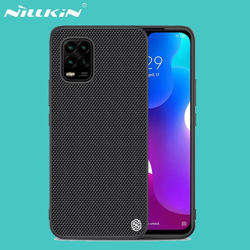 Para Xiaomi Mi 10 Lite 10 Youth 5G funda NILLKIN texturizada de fibra de Nylon funda trasera antideslizante y ligera para Xiaomi Mi 10 Lite 5G
