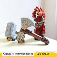New Super Heroes Infinity Gauntlet Thor Hammer Storm Axe Building Blocks Model   Avengers Bricks Toys