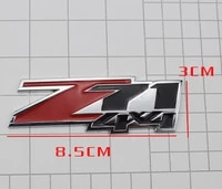 3d red auto stickers z71 4x4 badge emblem decal motorcycle modified car accessories