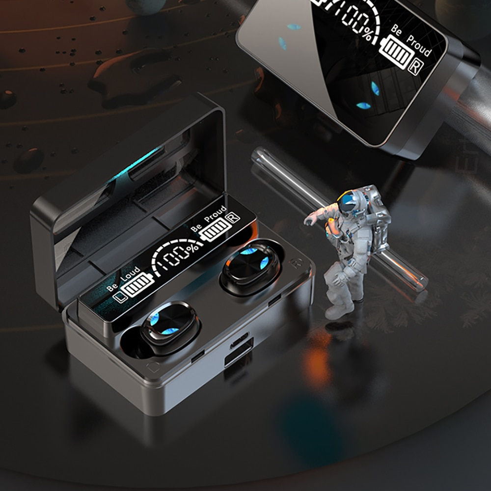 TWS Bluetooth 5.0 Headphones Wireless Earphones 2200mAh Charging Box Sport Waterproof Headsets Finge