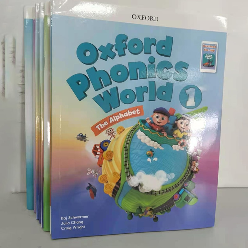 10 Books oxford phonics world storybook Children Learning English Case Early Learning Books Workbook Educational Toys Textbook