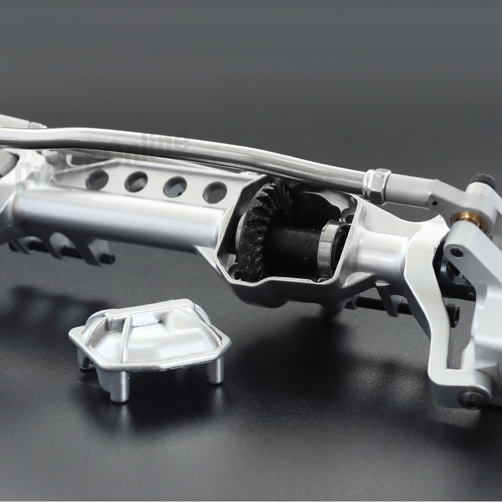 CNC Machined Aluminum Alloy Front and Rear Portal Axle for 1/10 RC Rock Crawler Car Axial SCX10 III AXI03007 Parts enlarge