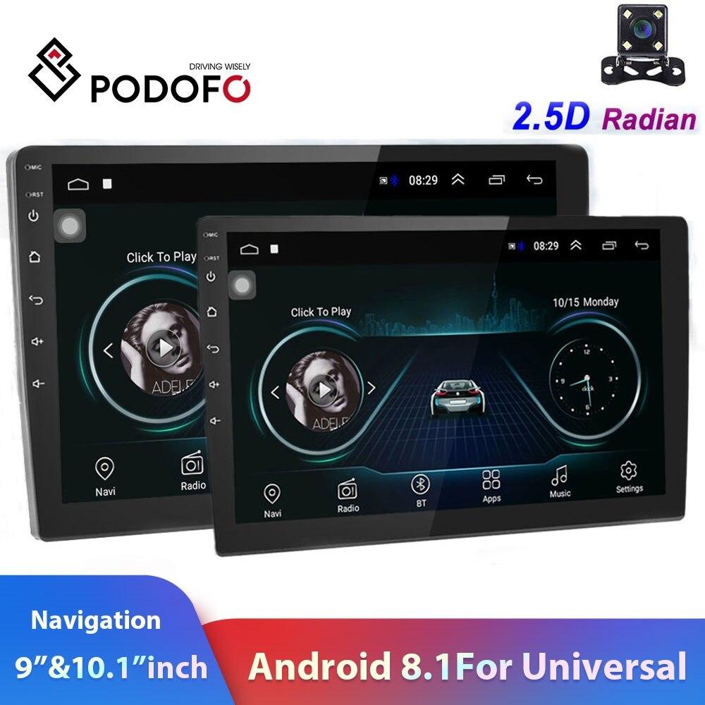 Podofo 2din راديو السيارة 9