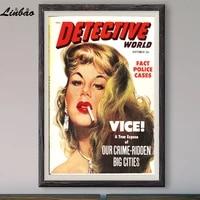 Conduite du Crime V078 1952  Affiche en soie personnalisee  Vintage  film classique  decoration murale  cadeau de noel