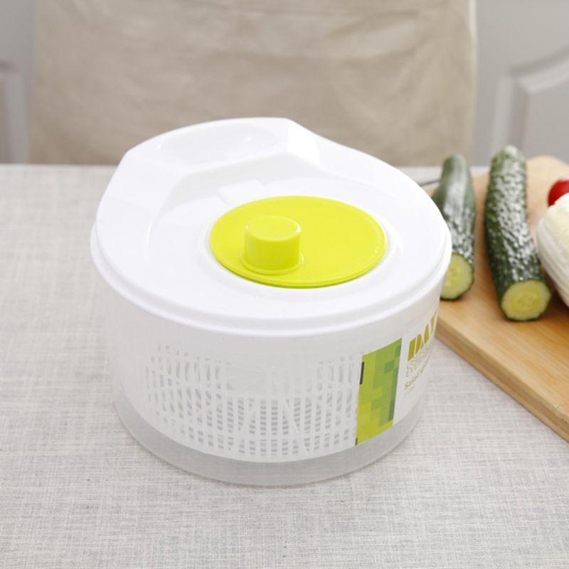 Salad Spinner Ingredients Dryer Vegetables Fruit Removable Drain Basket Dehydrator Kitchen Tools X4YD