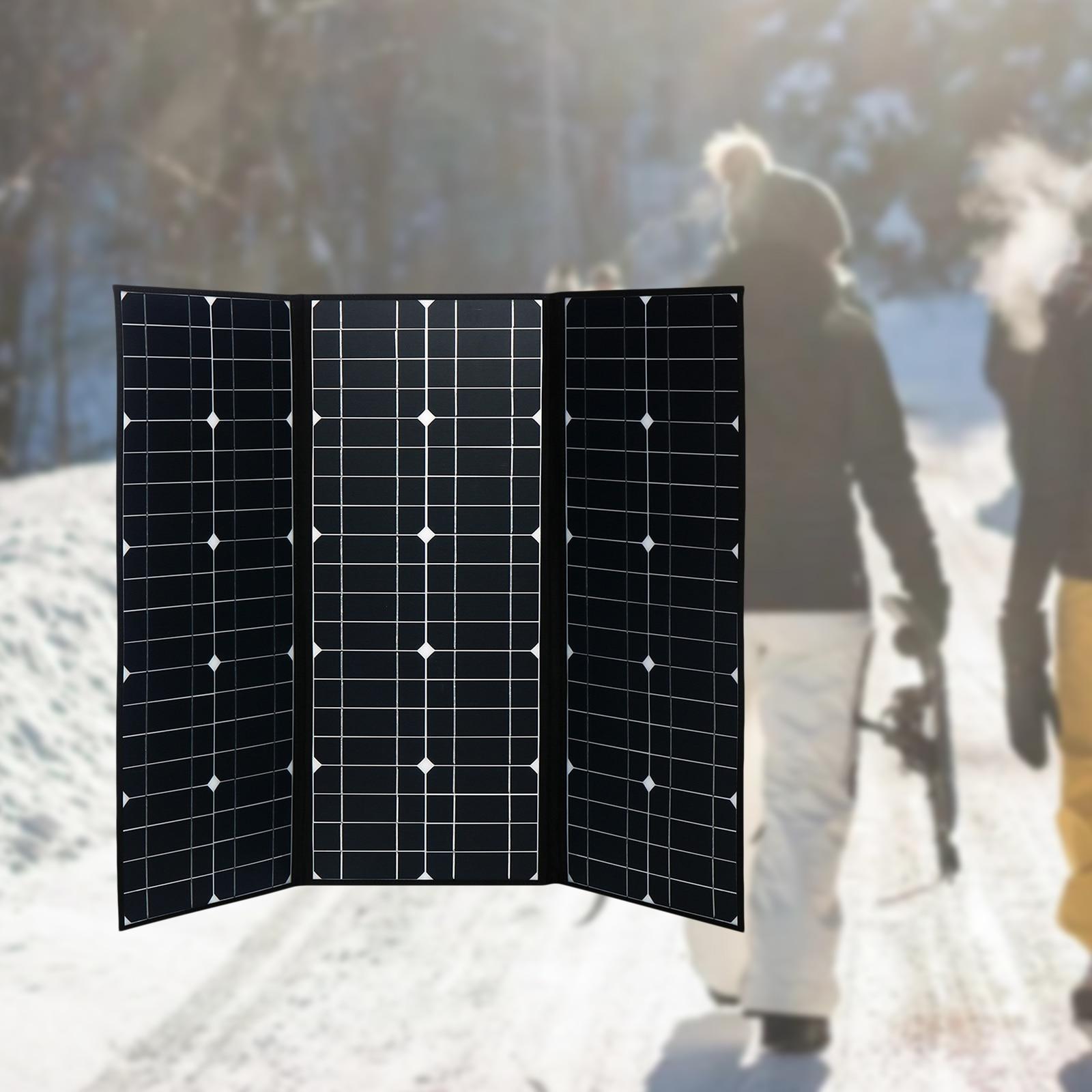 200 واط لوحة شمسية قابلة للطي المحمولة مولد محطة الطاقة ، لوحة للطاقة الشمسية شاحن للمنزل في الهواء الطلق التخييم المشي لمسافات طويلة