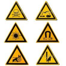 5/piezas etiqueta de advertencia tóxico/láser/imán de señal etiquetas de seguridad a prueba de agua a prueba de aceite de advertencia etiqueta adhesiva para máquina de pared