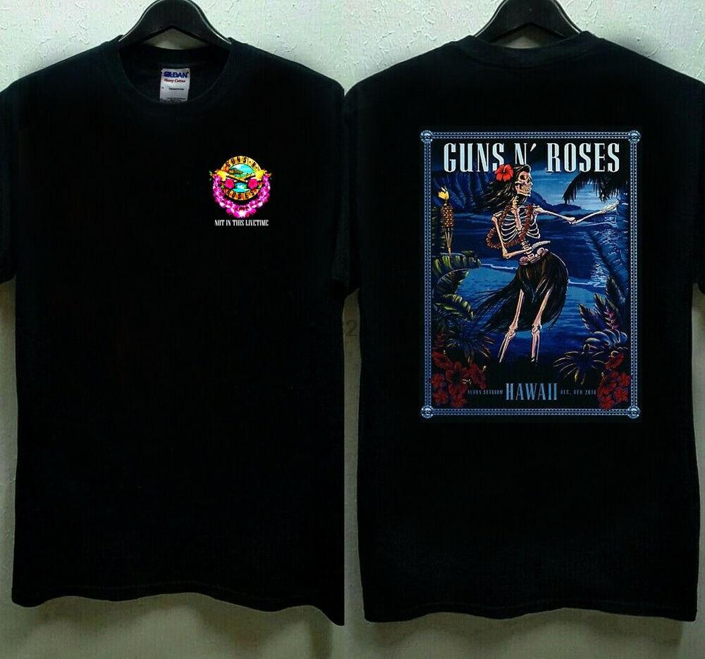 Guns N Roses Lithograph Hawaii Concert 12 8 2018 T shirt