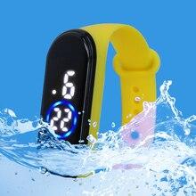 Reloj deportivo de moda para niños reloj Digital Led impermeable correa de silicona ultraligera reloj de pulsera Unisex para niños y niñas
