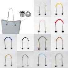 Long Double Chain Removable Handles HandBag Chain Silver Chain Obag Handle With A Removable Silver Nut? Totes Bag Strap